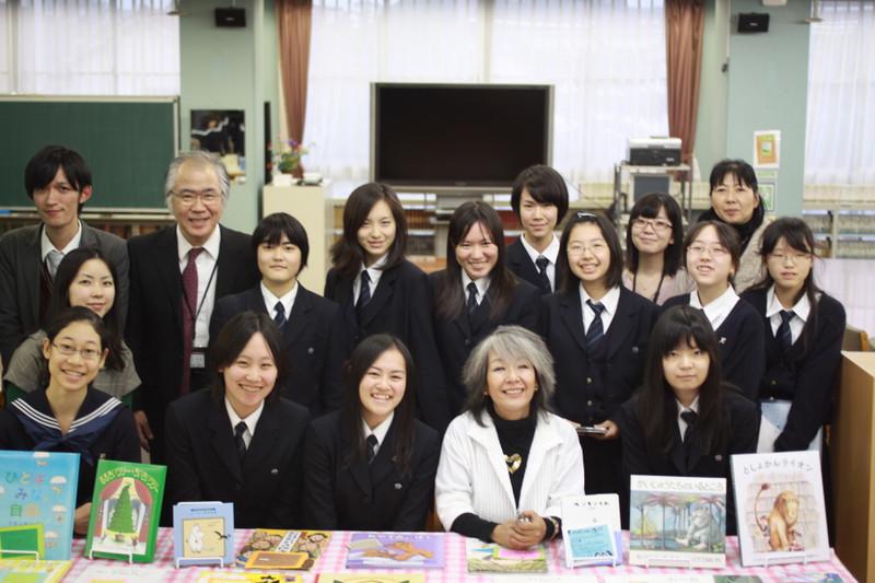 落合恵子さんの講演会での図書委員の取り組み