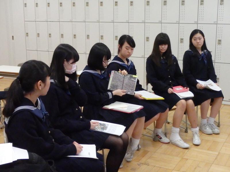 《中学3年》 国内FW:保護者に伝える会