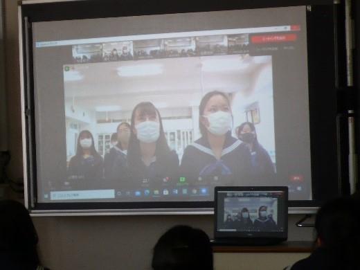 中2総合  マーシャル共和国のコープスクールと2回目のオンライン交流会を行いました