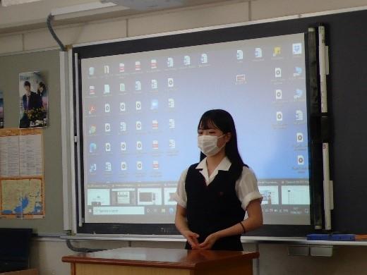 高2英語 ハイレベルスピーキング授業の様子