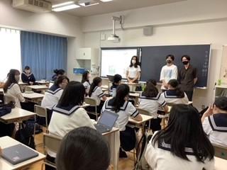 中3D文化祭  大学生による「レトロ」についての講演