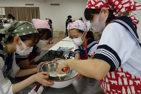 中2B文化祭  アイス作りに挑戦しました