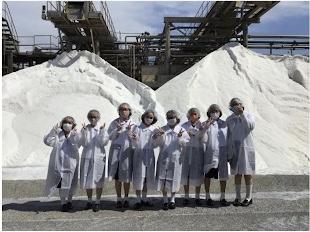 中2C文化祭 工場見学で「塩」について豊かに学びました